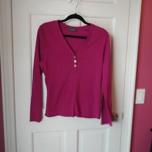 Ralph Lauren purple long sleeve t-shirt size L
